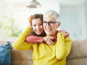 Woman Grandchild Glasses Eye Care Andover Wichita Kansas